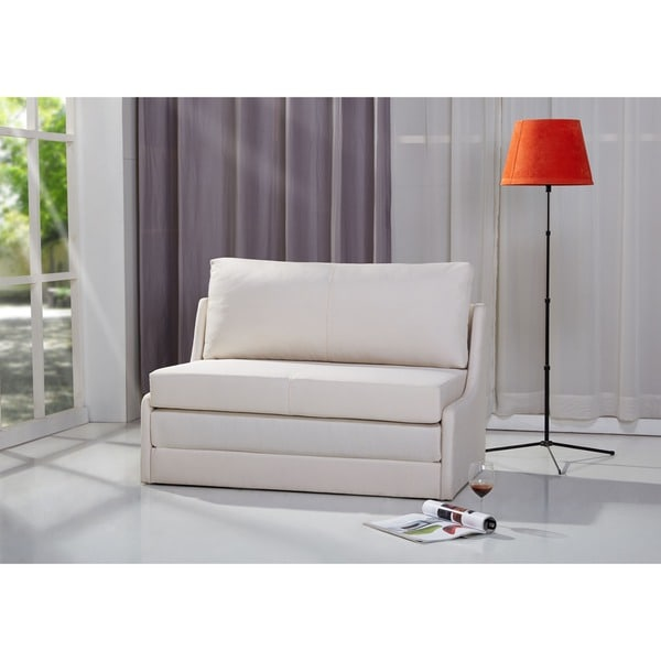 Albany Beige Convertible Loveseat Sleeper