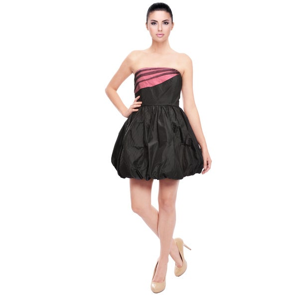Alice & Olivia Sassy Black Strapless Cocktail Dress