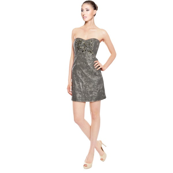 Badgley Mischka Metallic Dress