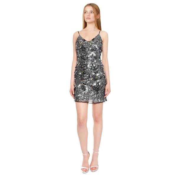 Basix Eye Catching Silk Sequin Dress