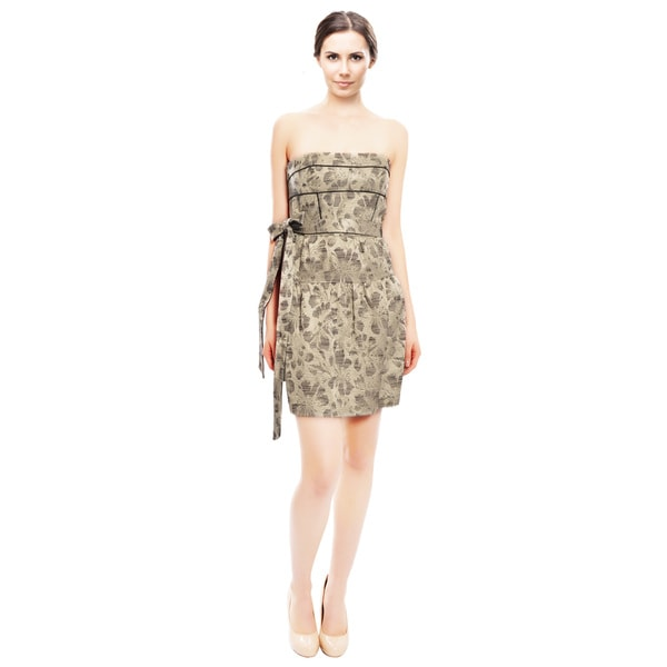 Cynthia Steffe Floral Texturized Cocktail Dress