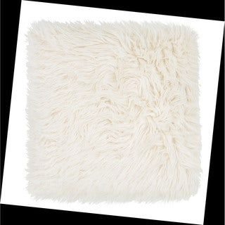 Tribal Pattern Ivory/White Acrylic Throw Pillow 20-inch