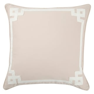 Tribal Pattern Taupe/Ivory Cotton Throw Pillow 20-inch