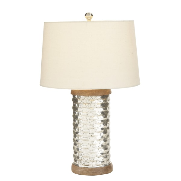 Cylinder Glass Table Lamp With Shade