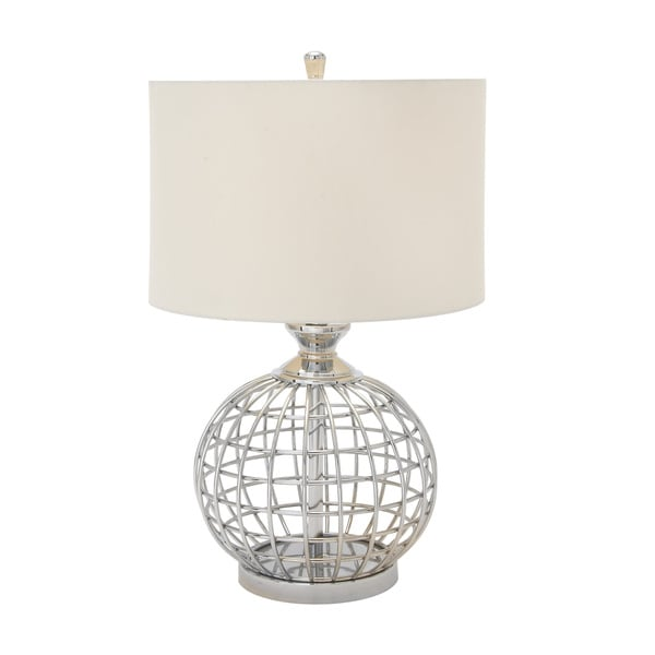 Silver Metal Table Lamp