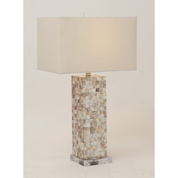 Polystyrene Mosaic Table Lamp