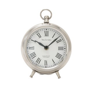 Silver Metal 6-inch Table Clock