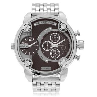 GP London Men's Multi Time Zone Link Watch