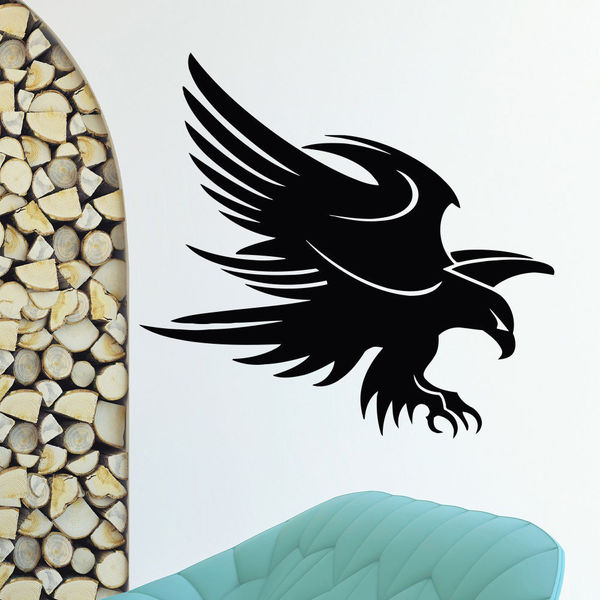 Black Eagle Vinyl Wall Art Decal Sticker
