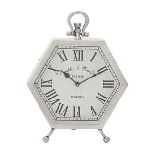 Metal Hexagon Table Clock