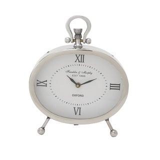 Metal Oval Table Clock