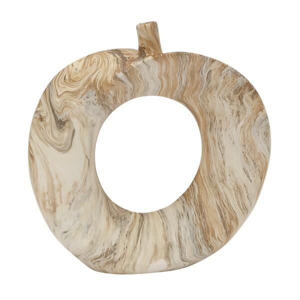 Dark Brown Ceramic Marble Vase