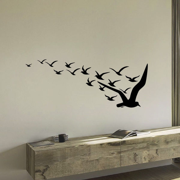 Flight Of Bird Wall Art Decal Sticker