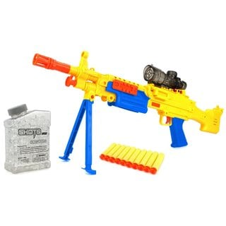 YK Super Machine Gun Spring Powered Toy Foam Dart and Water Polymer Ball Shooting Gun