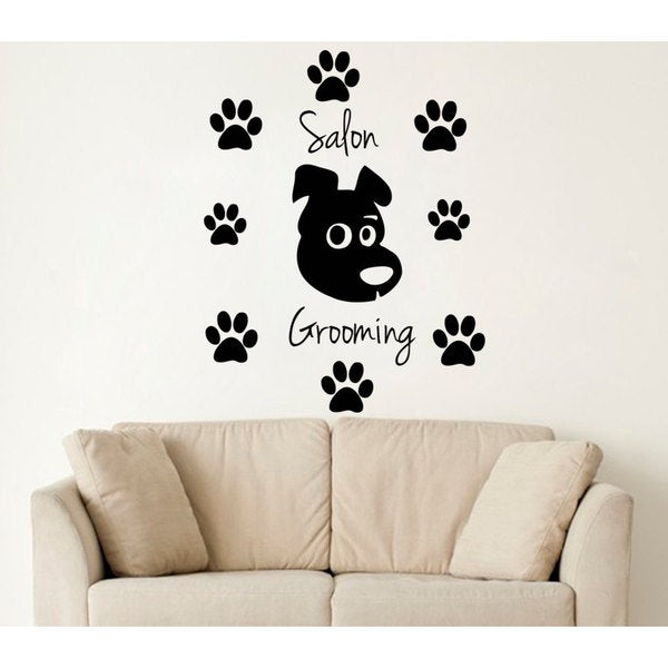 Dog Salon Wall Art Decal Sticker