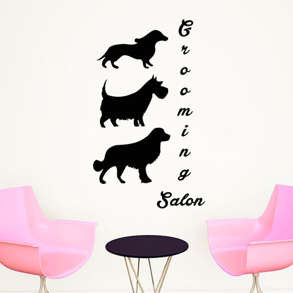 Pet Salon Wall Art Decal Sticker
