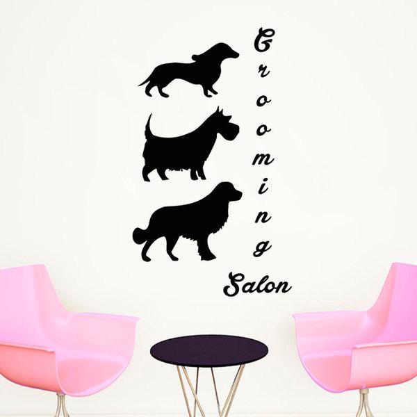 Pet Salon Wall Art Decal Sticker