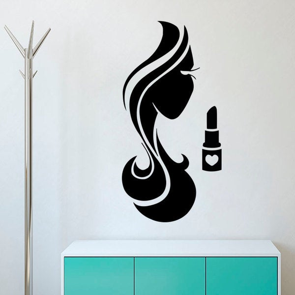 Beauty Salon Wall Decals Hairstyle Vinyl Stickers Girl Decal Home Window Art Murals Decor