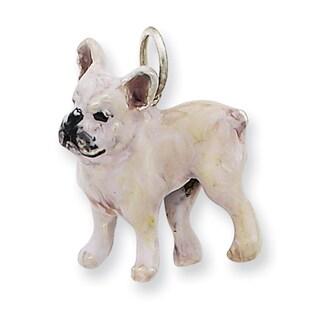 Sterling Silver Enamel French Bulldog