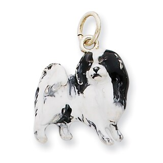 Sterling Silver Enamel Japanese Chin Charm