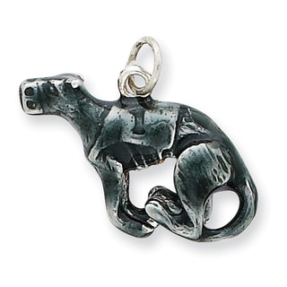 Sterling Silver Enamel Medium Greyhound Charm