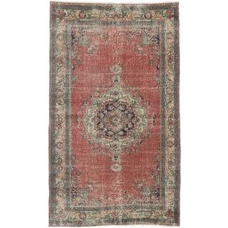 ecarpetgallery Anadol Vintage Red Wool Rug (4'9 x 8'1)