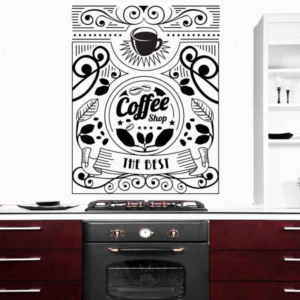 Coffee Beans Design Shops Wall Art Sticker Decal