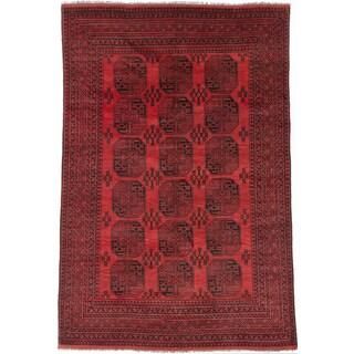 ecarpetgallery Khal Mohammadi Red Wool Rug (6'8 x 9'8)