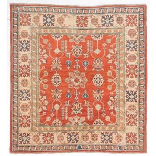 ecarpetgallery Uzbek Gazni Brown Wool Rug (5'8 x 6'2)
