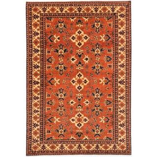 ecarpetgallery Finest Kargahi Brown Wool Rug (6'8 x 9'8)