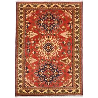 ecarpetgallery Finest Kargahi Brown Wool Rug (6'11 x 9'6)