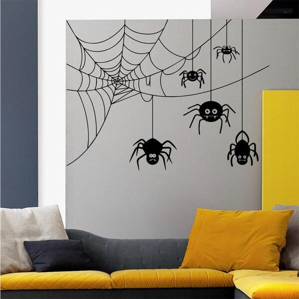 Spider Web Wall Art Sticker Decal 17266001