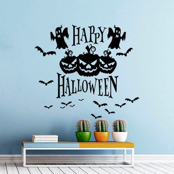 Pumpkins Skeletons Bats Monsters Wall Art Sticker Decal