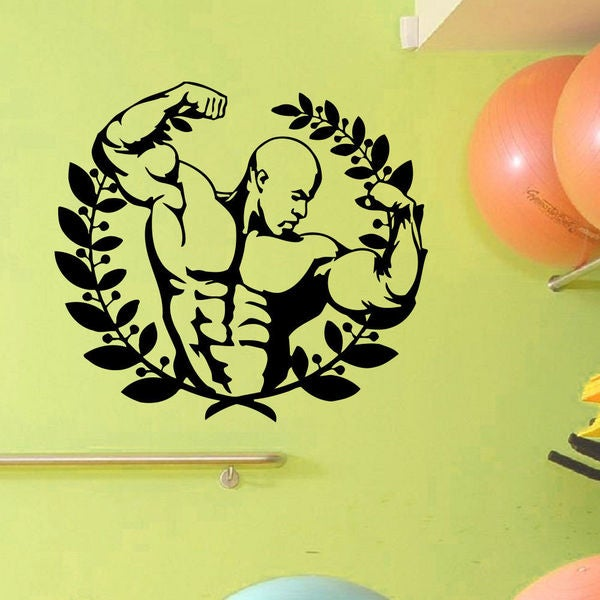 Athlete Muscles Man Wall Art Sticker Decal