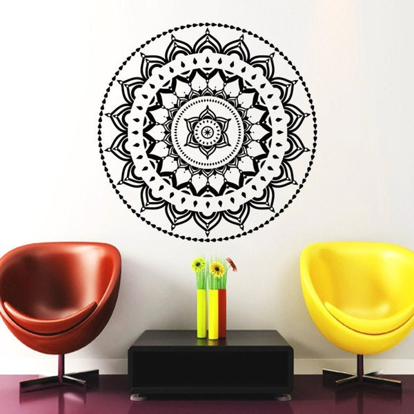 Mandala Yoga Beauty Wall Art Sticker Decal