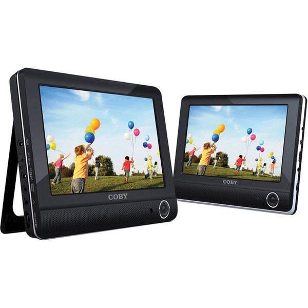Coby TFDVD9952 9-inch Dual Screen Tablet Portable DVD Player (Refurbished) 17266106
