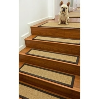 """Hand-crafted Galena Sisal Stair Treads (9""""x29"""")"""