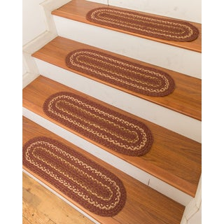"Hand Braided Fulton Jute Stair Treads 9"" x 29"" (Set of 13)"