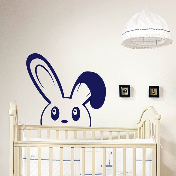 Funny Hare Wall Art Sticker Decal Blue