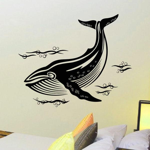 Undersea world Whale Wall Art Sticker Decal