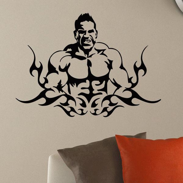 Gym Man Girl Wall Art Sticker Decal
