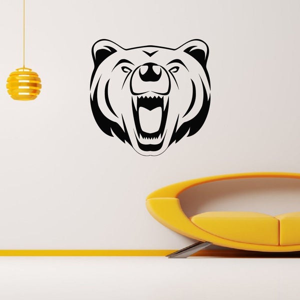 Animal Angry Bear Wall Art Sticker Decal