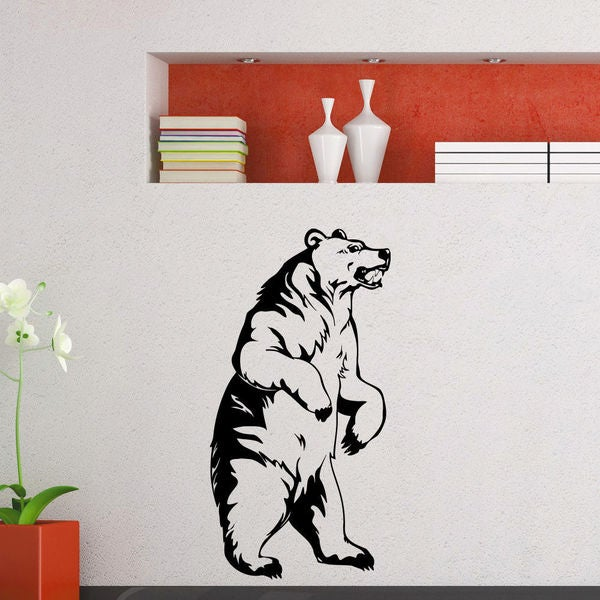 Bear in full Growth Wall Art Sticker Decal