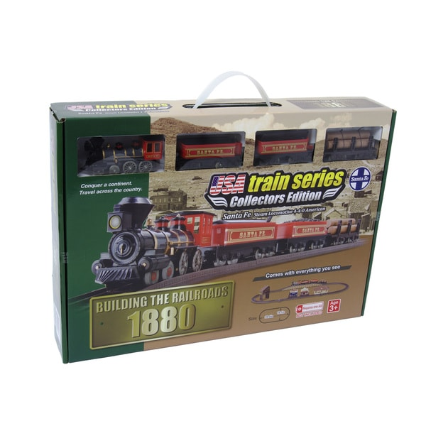 1880 Santa Fe Steam Locomotive 4-4-0 American Battery Operated Train Set