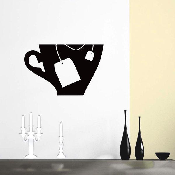 Tea bag Cup Wall Art Sticker Decal