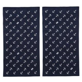 IZOD Diagonal Anchors Beach Towel (set of 2)