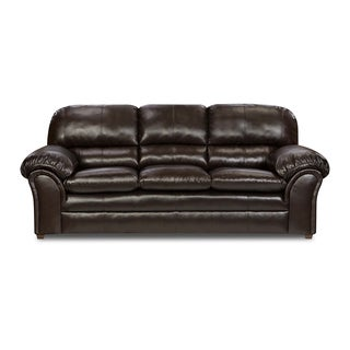 Simmons Upholstery Vintage Riverside Bonded Leather Sofa