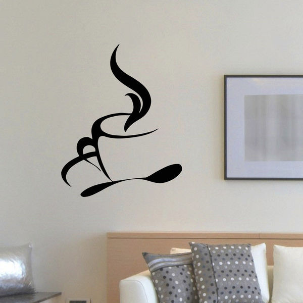 Tea Coffee Cup Wall Art Sticker Decal 17266583
