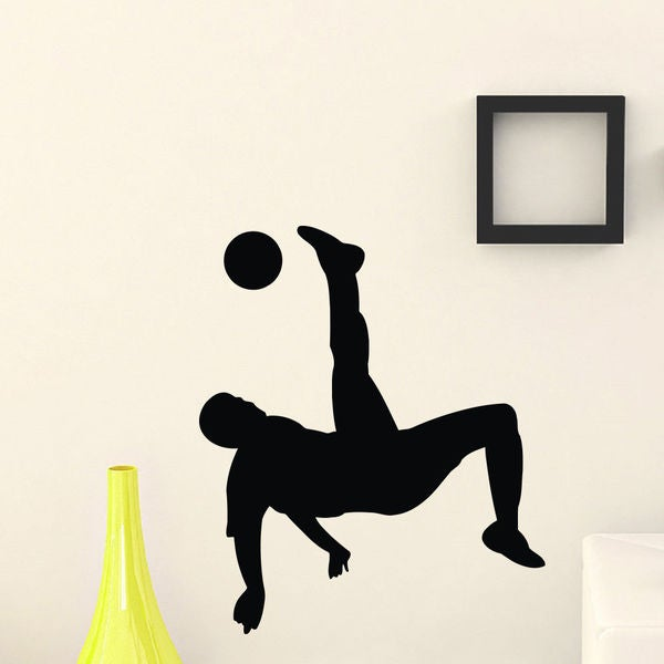 Soccer Forward Player Sport track Wall Art Sticker Decal
