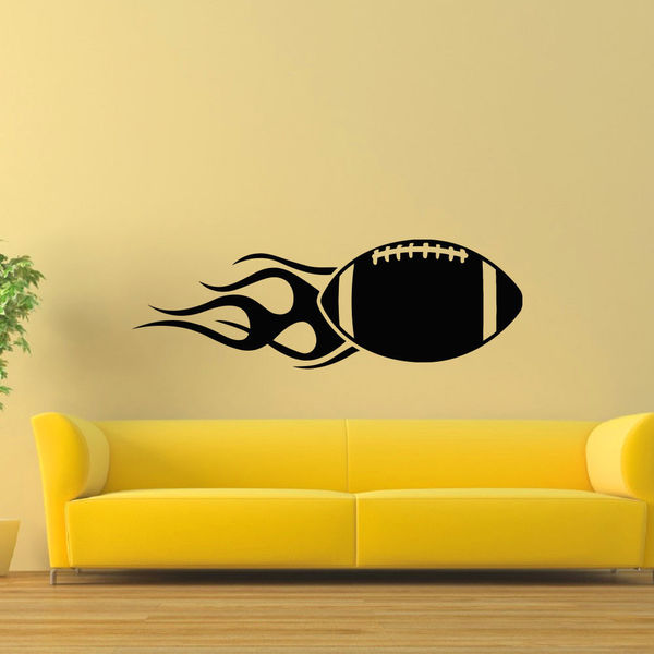 Rugby Ball Wall Art Sticker Decal